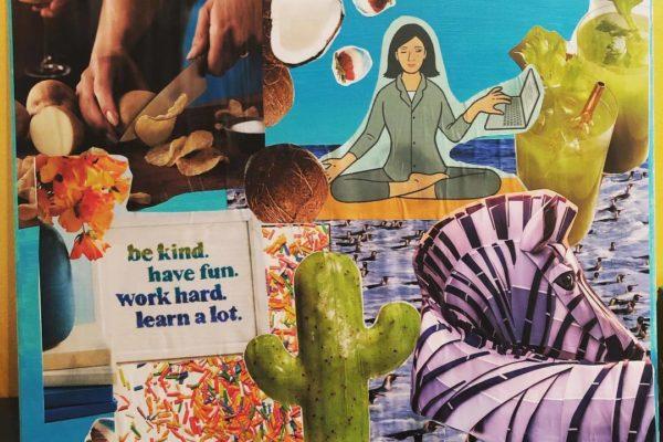 Picture of magazine clippings design art design