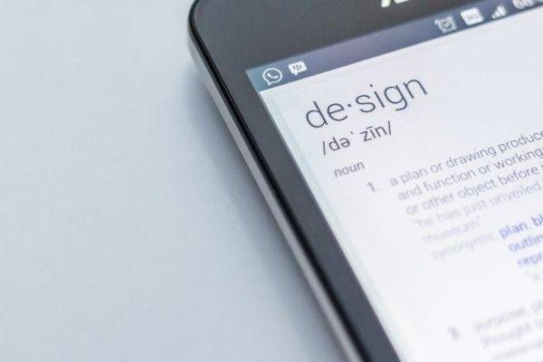 A mobile phone with the meaning of design
